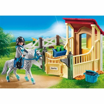 Horse Stable with Appaloosa 6935