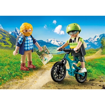 Action Bjergbestiger samt mountainbike sportsmand 9129