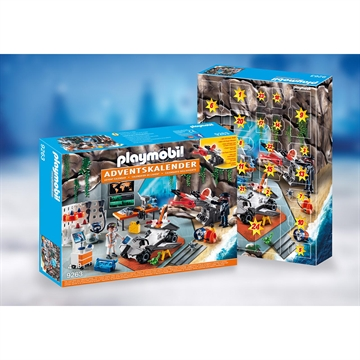 "PLAYMOBIL CHRISTMAS - JULEKALENDER ""SPY TEAM-VÆRKSTED""  9263"