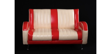 Mini Mercury sofa new ivory/rød - Toysstore
